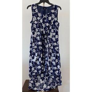Simply Vera Vera Wang Blue/White Floral Dress
